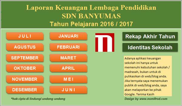 Aplikasi Buku Keuangan Bendahara Kas Umum Sekolah v4.00 Siap Cetak