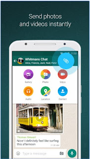WhatsApp Messenger APK share photo and videos