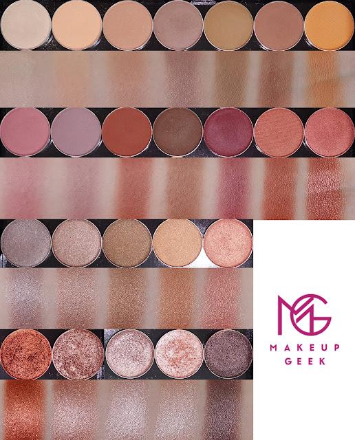 makeup geek eye shadows foiled shadows pigments blush