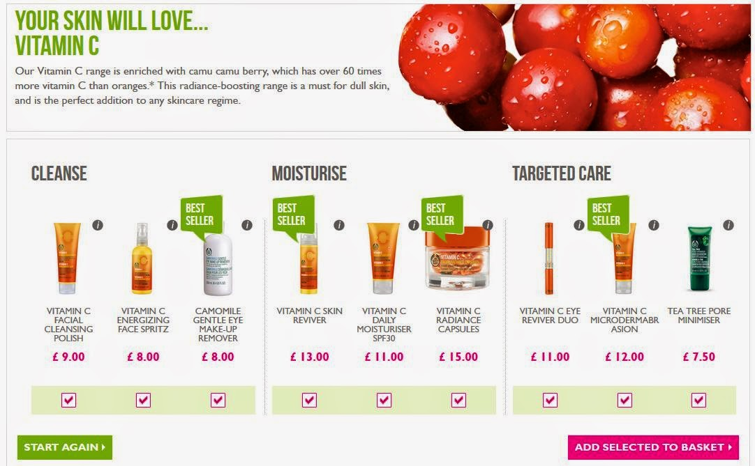 Body Shop - the skin diagnostic tool