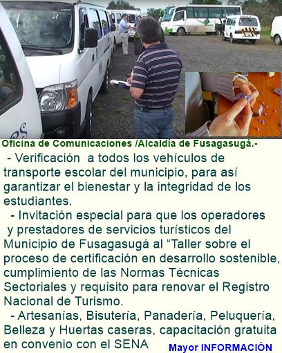 Fusagasugá: Controles y capacitaciones. Impulsa y ofrece la Administración Municipal.