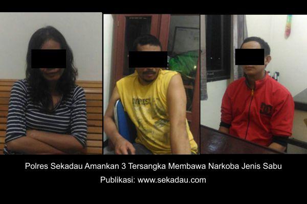 Polres Sekadau mengamankan 3 orang diduga menyimpan narkoba jenis sabu