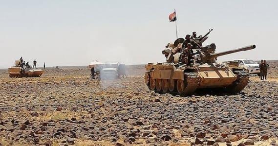 """الجيش السوري يتابع عملياته ضد إرهابيي """"داعش"""" في تلول الصفا ببادية السويداء"""