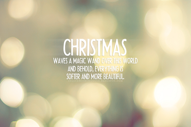 25 Best Christmas Quotes On Pinterest: Charly's Style Of Life: IT'S THE MOST WONDERFUL TIME OF