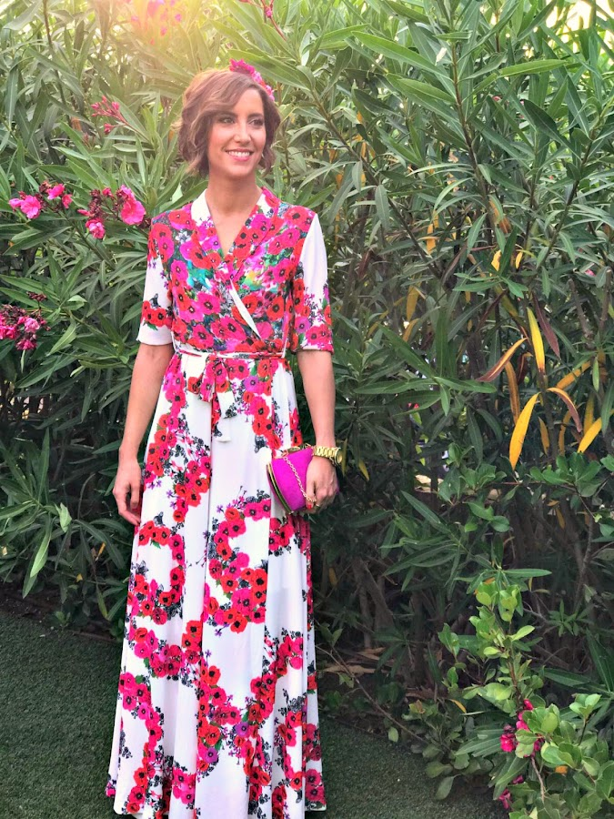 Fitness And Chicness-Look Invitada Boda Vestido Largo Flores-4