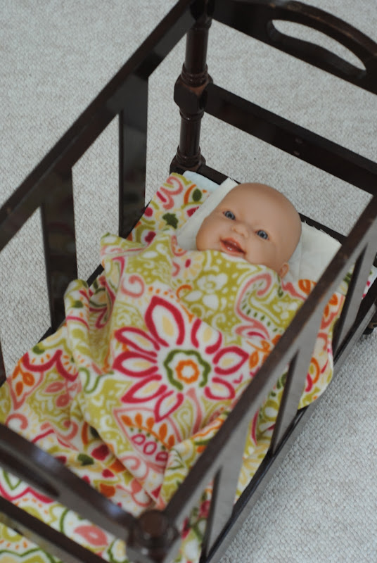 How To Make A Diy Doll Crib From A Magazine Rack