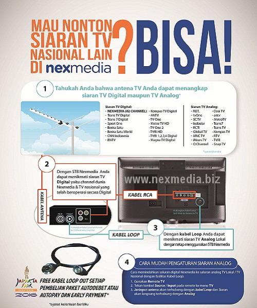 Cara nonton tv digital nasional gratis di Nexmedia.