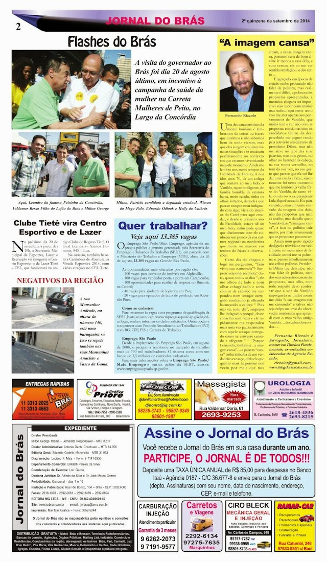 Destaques da Ed. 257 - Jornal do Brás