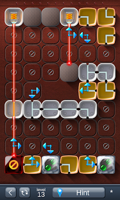 Solution for Laser Box - Puzzle (Advanced) Level 13