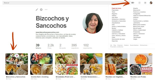 Organizar y categorizar los tableros en Pinterest