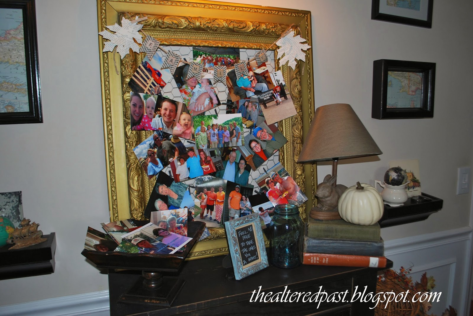 antique frame, photo board, the altered past blog