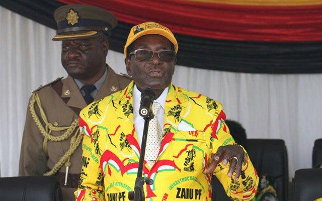 Mugabe flies into burning economy