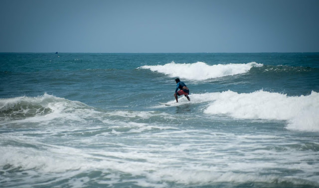 Surfing; Tayrona, Colombia