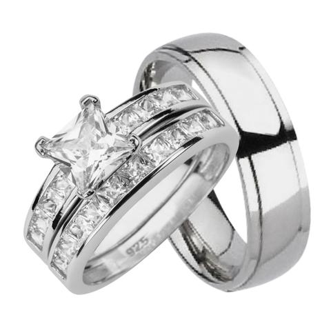 His And Her Wedding Rings Sets Cheap