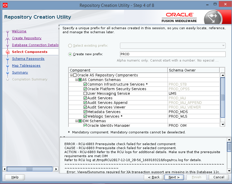 Oracle Identity And Access Management: OIM 12C RCU Creation