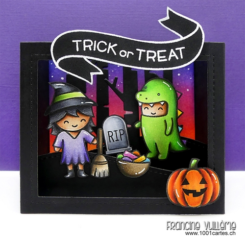 Good Hello Everyone And HAPPY HALLOWEEN! And Of Course, Today, I Have A Halloween  Card To Share With You Using Lots Of Lawn Fawn Products.