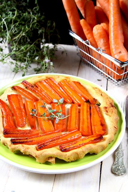 tarta, tarta warzywna, tarta z marchewka, odwrócona tarta z marchewka,