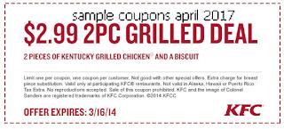 Kfc coupons for april 2017