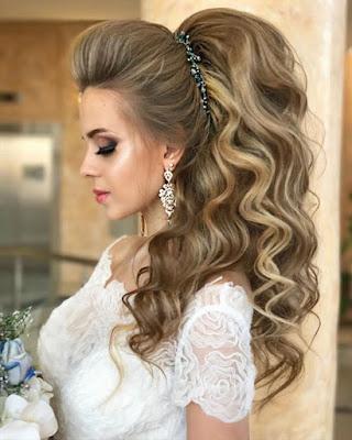 peinado con melena elegante cabello suelto para fiesta de gala