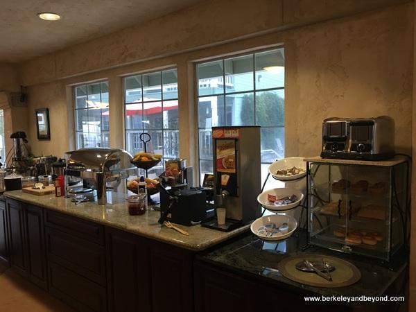 breakfast buffet at Baechtel Creek Inn and Spa in Willits, California