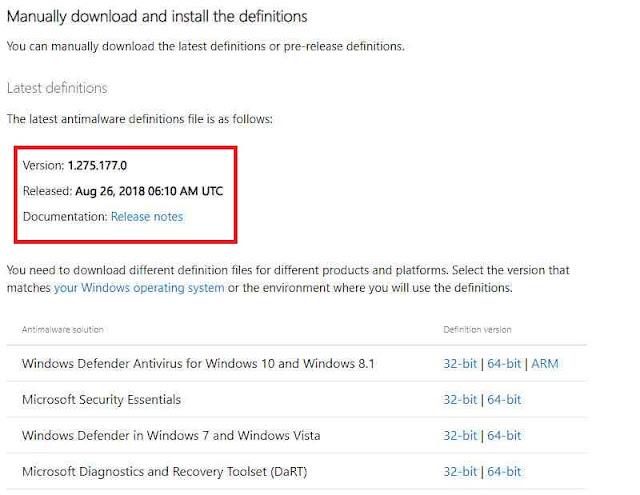 Cara Update Windows Defender Secara Manual