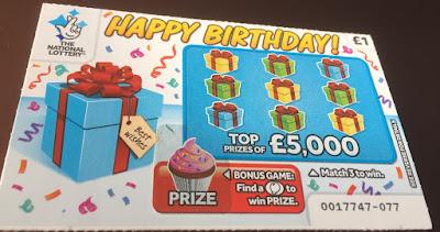 £1 Happy Birthday Scratch Card