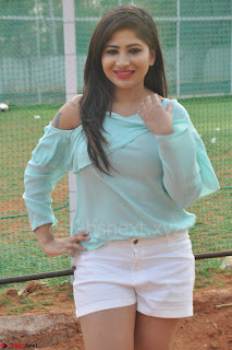 Madhulagna Das looks super cute in White Shorts and Transparent Top 73.JPG