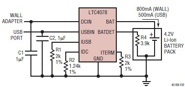 Battery Charger Using LTC4078 | Circuit learning on