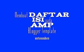 Cara Mudah Membuat Daftar Isi Pada Amp Blog HTML
