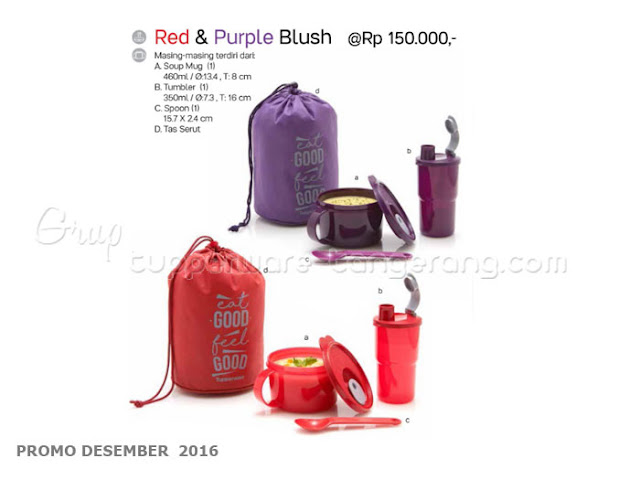 Red & Purple Blush Promo Tupperware Desember 2016