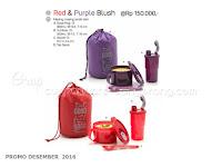 Red & Purple Blush Promo Tupperware Desember 2016