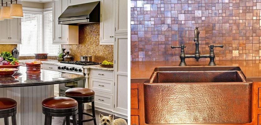 Marzua azulejos de cobre en la cocina - Azulejos para la cocina ...