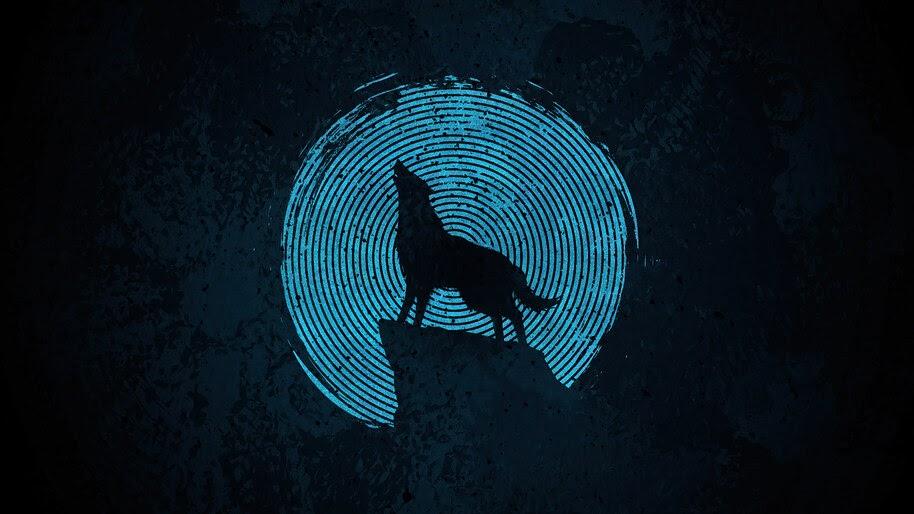 Wolf, Minimalist, 4K, #6.2197