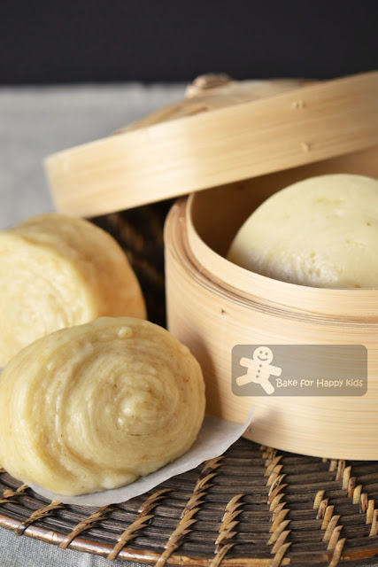 Plain Chinese Steamed Buns Soy Mantou