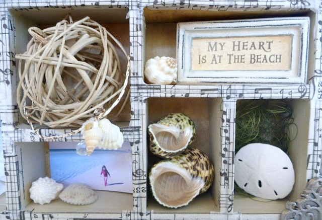 Tim Holtz Configurations Box with Beach Photos, and Shells