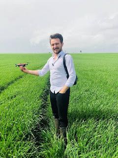 Profert Gübre Akıllı Tarım Arpa Parseli Drone Kullanımı