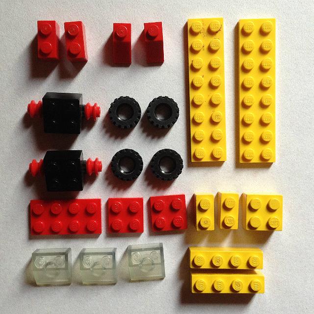 A LEGO SYSTEM 1606 elem készlete - 23 darab