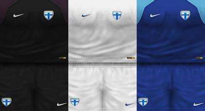 PES 6 Kits Finland National Team Season 2018/2019 by VillaPilla
