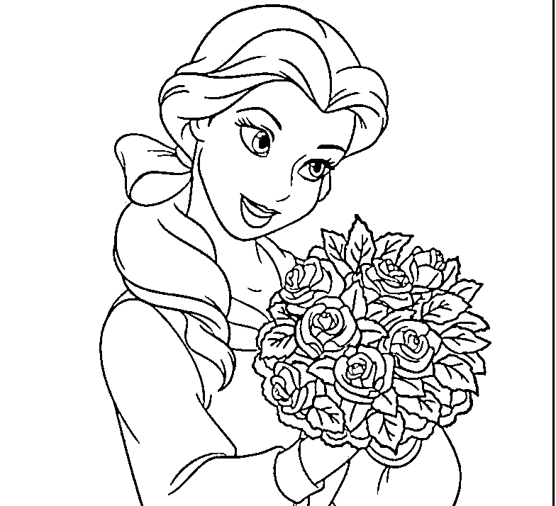 disney princess belle coloring pages to kids beauty - Baby Princess Belle Coloring Pages