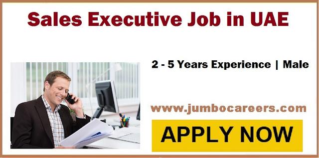 UAE job as sales Executive, sales Executive jobs Dubai,