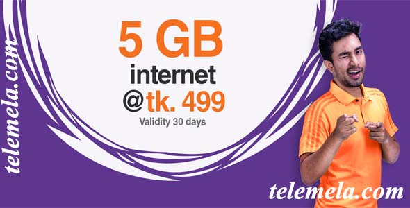 banglalink 5GB internet Package at 499tk
