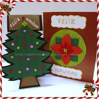 SanDryCreaciones Postales navideas con goma eva o foamy