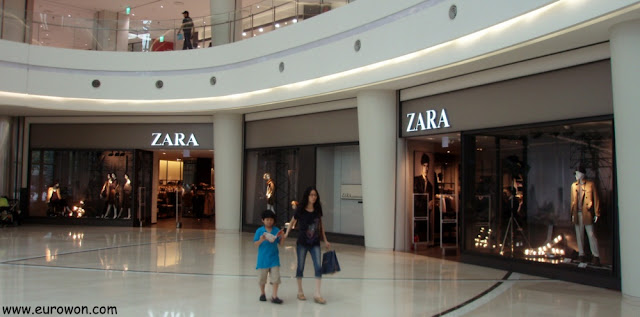 Tienda de Zara en el Times Square de Seúl