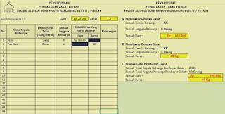 aplikasi pengelolaan pembayaran zakat fitrah menggunakan microsoft excel 2007 2010