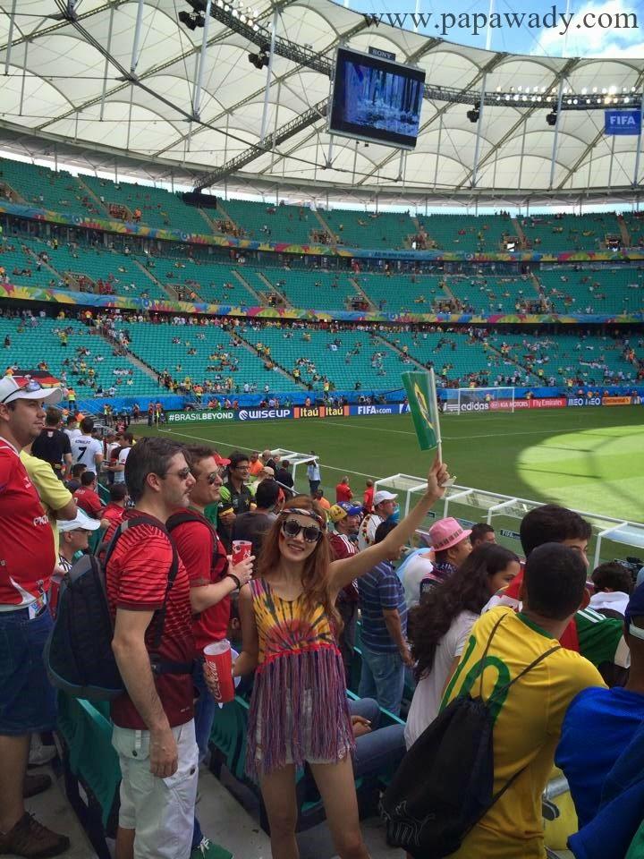 Myanmar Model Awn Seng in Brazil World Cup 2014
