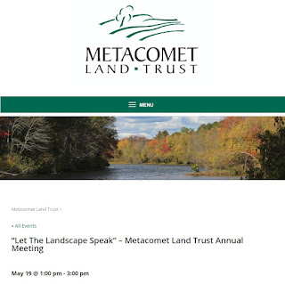Metacomet Land Trust Annual Meeting - Sunday, May 19