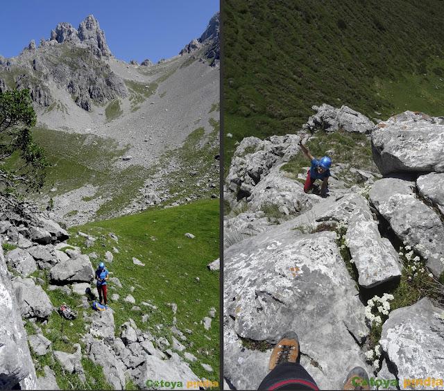 Ascensión a la Torre del Friero (Picos de Europa) desde Posada de Valdeón, por su cara Sur y bando por la Norte.