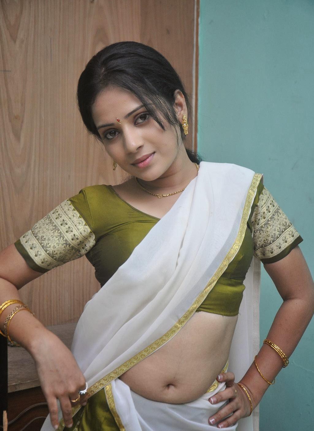Asrik Banu Hot Navel Show Stills In Half Saree - Hot Blog -2963