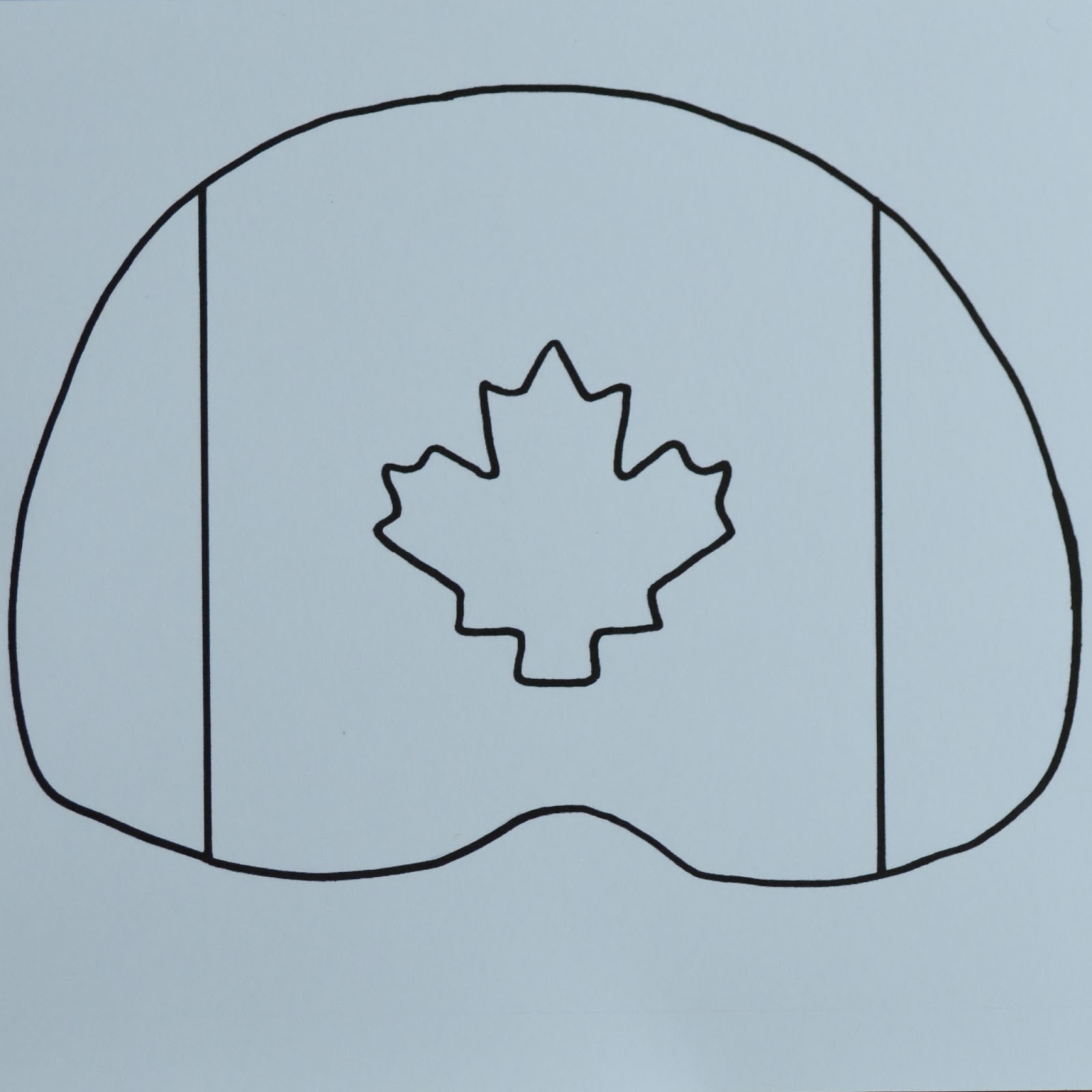 East Coast Mommy: Canada Day Fan {with free printable template}