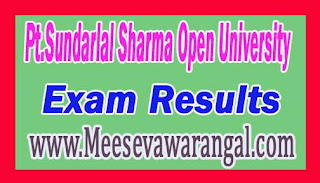 Pt.Sundarlal Sharma Open University B.L.I.Sc 1st Year May 2016 Exam Results